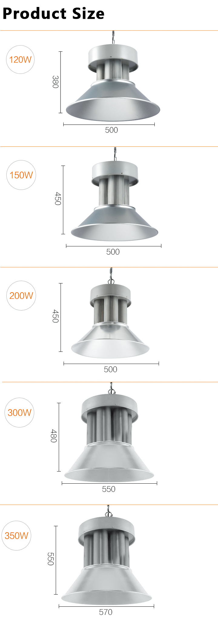 high bay light 120-350W