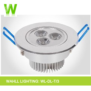 led down light 3w WAHLL